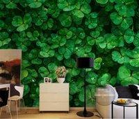 ingrosso murale verde foglia-Green Leaf Leaves Plants Photo Mural Sfondi 3D Soggiorno Ufficio Ristorante TV Backround Murales Rotoli di carta da parati Paesaggio