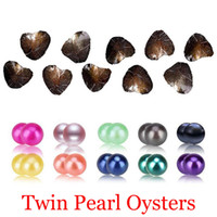 Wholesale Holidays Packs - 2018 DIY Freshwater Twins Pearls In Oysters 25 Colors Pearls Oyster Pearls With Vacuum-Packing Luxury Jewelry Birthday Gift For Women