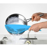 whale tools 2018 - 1Pcs Cooking Tools Kitchen Tool The Whale Shaped Handle Type Water Filter Frame Rice Washer Creative Water Retaining Tools