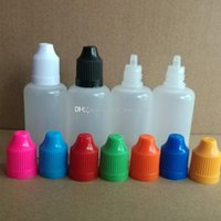 Wholesale 1000pcs ml PE plastic dropper bottle with coarse tips for my new friend