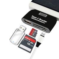 micro hc großhandel-USB 3.1 Typ-C Kartenleser mit USB, TF, SD (HC), Micro USB Hub Multifunktionsadapter für USB-C Telefon PC Unterstützt OTG