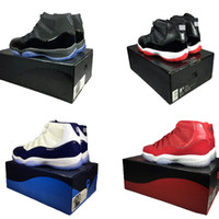 Wholesale cheap mens caps - Cap and gown 11 prom night blackout basketball shoes concord bred gamma legend blue mens Sports Shoes Womens Trainers Cheap Athletics Sneake