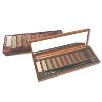 Wholesale nude eyeshadow makeup for sale - 2019 new in makeup Nude Heat Eyeshadow Palette Colors Professional Makeup Eyeshadow Palette With Brushes