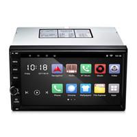 автомобильный wifi сенсорный экран оптовых-Универсальный автомобильный мультимедийный плеер 7-дюймовый TFT емкостный сенсорный экран зеркало ссылка GPS навигация радио Bluetooth Wifi FM автомобиль GPS навигация