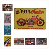ingrosso segno indiano dell'annata-BSA Bicycle Riding Vespa Indian Motorcycles Metallo vintage Retro Tin sign Art decorazione da parete House Cafe Bar Vintage Metal craft
