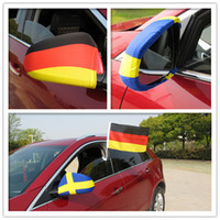 Wholesale Mirror Flags - 2018 world cup National flag Car Side View Mirror Cover Digital Printing football soccer fans gift