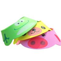 pelo viejo al por mayor-Baby Shower Cap Shampoo Hat Productos para bebés Baño ajustable Sombrero de baño Niños Eva Wash Hair Cap 0-4 Years Old Products
