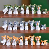 ingrosso ornamento giardino gatto-Nuovo Mini Cat Moss Micro Bonsai Garden Piccolo Ornamento Paesaggio Home Garden Decoration 120pcs / lot T2I124