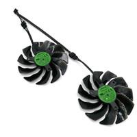 gráficos de fã gigabyte venda por atacado-Original novo EVERFLOW T129215SU Gráficos Fan Substituição ou Cabo para GIGABYTE GTX 1050Ti 1060 1070 RX 470 480 570 580 R9 380X