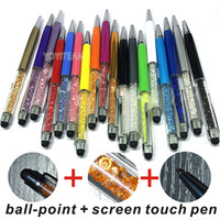 Wholesale apple pens for sale - Group buy screen touch and ball point pen combo with diamond with multi colors for smartphone any mobile phones