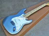 Wholesale electric st guitar body online - High Quality cheap price GYST Silver color with white plate maple fingerboard ST Electric Guitar Can be Customized