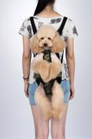 ingrosso indietro animale domestico-2018 Nuovo arrivo Pet Nylon Buona Air Permeability Cats Cani Zaini da viaggio Light Portable Pet Back Pack Bagpack