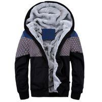 mens polyester pamuklu hırka toptan satış-Kış Erkekler Kalın Kazak Sıcak Hoodies Pamuk Hoodies Eşofman Erkekler polar Hırka mens tişörtü Artı Boyutu 4XL