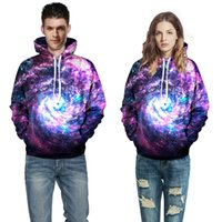 Wholesale Cheap Clothing Boy Girl - 3D Printing Starry Sky Hoodie Bling Hot Selling Fashion Mens Clothing Tracksuit School Boys Girls Wear Couples Dress Cheap neutral Jackets