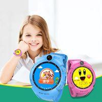 reloj de pulsera gsm al por mayor-2017 Q610 Smart Watch Niños Reloj de pulsera GSM GPRS Localizador GPS Anti-Perdida Smartwatch Guardia Infantil Pantalla Táctil C1-BS
