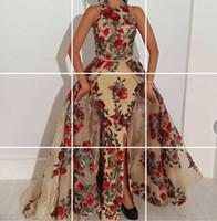 Wholesale kim kardashian peplum dresses - Evening dress Yousef aljasmi Kim kardashian Empire O-Neck Sleeveless Split Front With trai Almoda gianninaazar ZuhLair murad Ziadnakad