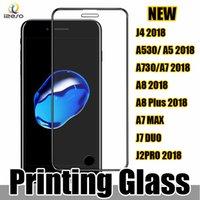 vidrio temperado samsung duos al por mayor-Protector de pantalla curvo de vidrio templado 9H 0.3mm 2.5D cubierto de seda para Samsung J7 Duo J7 MAX J6 2018 Huawei