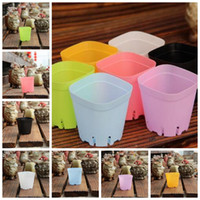 Wholesale modern plant pots - Plastic Flowerpot Mini Multicolour Square Succulents Breed Base Special Purpose Basin The Bottom Is More Breathable CCA9707 1060pcs