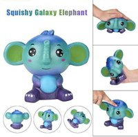 Wholesale wood elephant toy - Jumbo Cute Galaxy Elephant Squishy Scented Cream Super Slow Rising Stress Relief Reliever Squishy Decompression Toys KKA5039