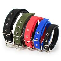 ingrosso collane di nylon nere-Collari per cane - Collare regolabile con fibbia per cane Collare per guinzaglio in nylon S-XL 4 colori - Prodotti per animali domestici