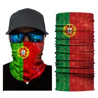 Wholesale mens seamless - World Cup 2018 Flags 3D Print Seamless Magic Warm Scarfs Halloween Cosplay Bandana Face Masks Designer Outdoor Bicycle Full Face Mens Hats