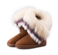 botas de mujer al por mayor-Niza nuevo invierno dulce chicas botas de piel hermosa moda mujeres calientes botas para la nieve zapatos de mujer moda S538