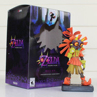 Wholesale Legend Zelda Accessories - 15cm The Legend of Zelda Figure Toy Majoras Mask 3D Skull Kid Collectible Figurine Zelda Model Doll