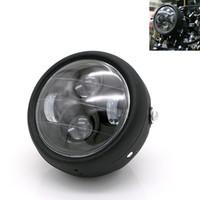 soportes de faros universales de la motocicleta al por mayor-1 unids Motocicleta Faros de Metal LED 6.3