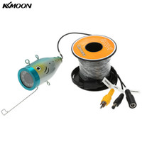 рыболовная камера hd оптовых-KKmoon HD 1200TVL Underwater Camera For Fishing with 15M Cable 12pcs Leds Fish Finder IP68 Waterproof for Ice/Sea/River Fishing