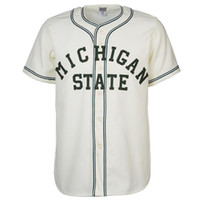 Wholesale free baseball logos - Michigan State Home Jersey Stitched Embroidery Logos Vintage Baseball Jerseys Custom Any Name Any Number