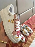 Wholesale hard dolls - 2018 Casual Shoes Best Quality Womens Fashion Sneakers Womens Dress Shoe Sports Tennis Couple doll shoes Fashion sneakers