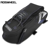 Wholesale bags water bottle pockets resale online - ROSWHEEL Bicycle Saddle Seat Tail Bike Rear Bag with Water Bottle Pocket Exterior mesh pocket for keeping water bottle