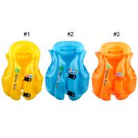 aufblasbare anzug kinder großhandel-Jungen Mädchen Treiben Einstellbare Anzug Kinder Kinder Baby Aufblasbare Schwimmweste Swiwmsuit Kind Schwimmen Sicherheitsweste Ausrüstung 3 Größe