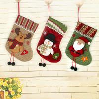 ingrosso ornamenti di lusso di natale-1pz nuovo anno 2017 di lusso di Natale Decorazione per la casa di avvio di Natale calzini decorazione ornamenti Y18102609