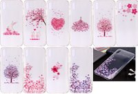 Wholesale cherry blossoms love resale online - Cherry Blossoms Soft TPU Case For Iphone XR XS MAX INCH Flower Floral Heart Butterfly Rabbit Lover Love Clear Luxury Phone Cover