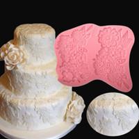 silikon dantel kek kalıpları toptan satış-Çiçek Sınır Dantel Silikon Kalıp Fondan Kalıp Kek Dekorasyon Araçları Çikolata Gumpaste Kalıpları, Sugarcraft, Mutfak Aksesuarları