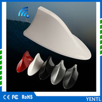 Wholesale car truck red for sale - YENTL New Auto Car Shark Fin Universal Roof Antenna Radio Signal For Auto Truck Van Shark Fin Roof car antenna FM AM Decorate