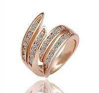 porzellan verlobungsfeier kleider großhandel-Ringe für Frauen Rose Gold Gefüllt Überzogene Bänder China Großhandel Kleid 18 Karat Gold Diamant Verlobungsringe Mode Freimaurer Diamant Ringe