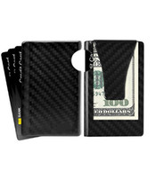 Wholesale Leather Front Pocket Wallet - Money Clip, Slim Wallet- YINUODE Minimalist Wallet, Carbon Fiber Front Pocket Wallet, Business Card Holder, RFID Blocking Credit Card Holder