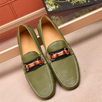 Wholesale euro style shoes for sale - 2018 Fashion Flats Shoes Men Loafers Genuine Leather Casual Shoes Euro Style Men Oxford Shoes For Mens Camouflage Driving Shoe