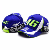Wholesale 3d letter snapback - High Quality Moto Gp 46 Motorcycle 3d Embroidered Casual F1 Racing Cap Men Women Snapback Caps Rossi Vr46 Baseball Cap Yamaha Hats