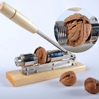 Wholesale Heavy Clamp - Heavy Duty Pecan Filbert Walnut Nut Hazelnut Hazel Cracker Nutcracker Clamp Plier Sheller Crack Almond Kitchen Clip Tool Machine