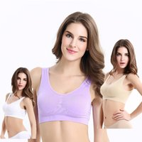 Wholesale clothes professional sexy - Pure color sexy sports bra professional fast dry gym casual yoga wear outdoor walking fashion bra girl wild home comfort clothing