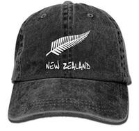 casquettes en jean lavé achat en gros de-New Zealand Unisexe Coton Chapeau En Denim Lavé Rétro Dad Cap Pour Hommes Ou Femmes