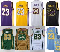 Wholesale youth basketball jerseys - No.23 LeBron James Jerseys St. Vincent Mary High School Irish Basketball Shirt Yellow Purple Black Green White Stitched Men Women Youth Kids
