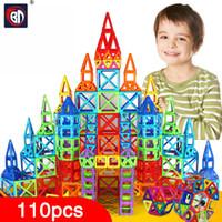 Wholesale Model Construction Toys - Wholesale-BD 110pcs Mini Magnetic Designer Construction Set Model & Building Toy Plastic Magnetic Blocks Educational Toys For Kids Gift