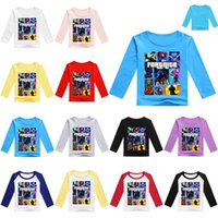 Wholesale 12 year old girls fashion - Boys Girls fortnite t shirts 12 colors 3~11 years old kids Fortnite Printed Cotton Long sleeve t shirts kids clothing LA856