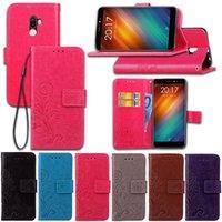 fälle decken ulefone großhandel-Für Ulefone S8 S8Pro Hülle mit Brieftasche Kartenhalter Konkav Lucky Four Leaf Pattern