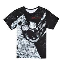 Wholesale dangan ronpa cosplay - Party gifts Dangan Ronpa Monokuma cosplay High Quality Milk Silk Short Sleeve T-Shirt Black White Bear Top Quality Valentine's Gift T-shirt