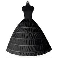 weiß plus größe petticoat großhandel-Große Petticoats Für Erwachsene Hochzeit / formales Kleid Schwarz Weiß 6 Reifen Ballkleid Big Underskirt vorrätig Plus Size Puffy Krinoline